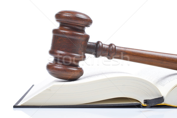 Wooden gavel and law book Stock photo © broker