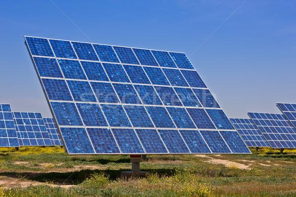 Solar power plant Stock photo © broker