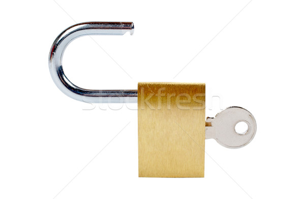 Unlocked padlock Stock photo © broker
