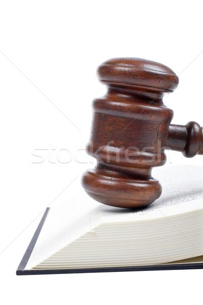 木製 小槌 法 図書 裁判所 孤立した ストックフォト © broker