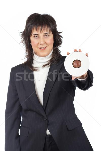 Holding a dvd disc Stock photo © broker
