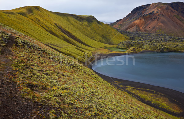 Crater lake in Landmannalaugar, Iceland Stock photo © broker