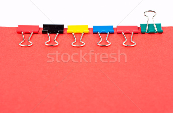 Green clip is the leader Stock photo © broker