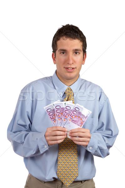Showing a fan money Stock photo © broker