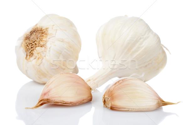 Garlics and cloves Stock photo © broker