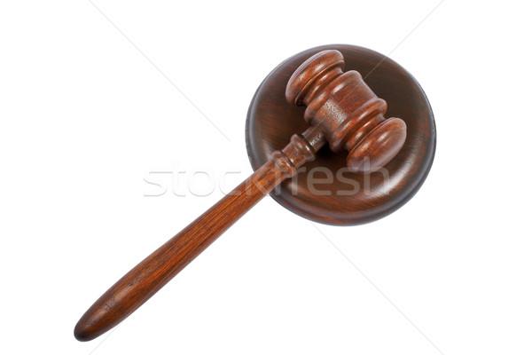木製 小槌 裁判所 孤立した 白 木材 ストックフォト © broker
