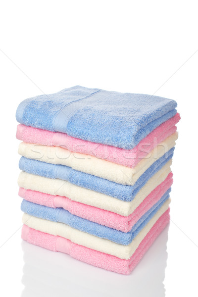Multicolored towels stacked Stock photo © broker