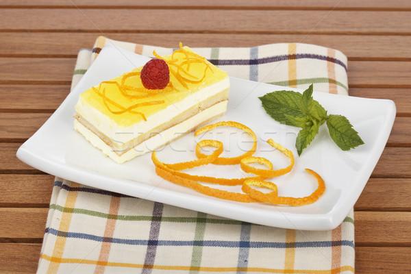 Delicious lemon cake Stock photo © broker