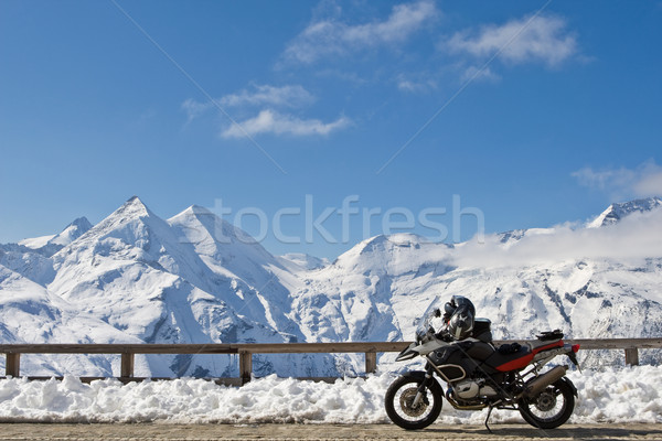 Motorbike in Grossglockner, Austria Stock photo © broker