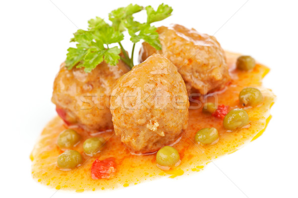 Fresh meatballs Stock photo © broker