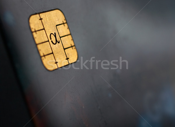 Macro shot of credit card, view of the chip Stock photo © broker