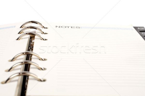 Opened agenda Stock photo © broker