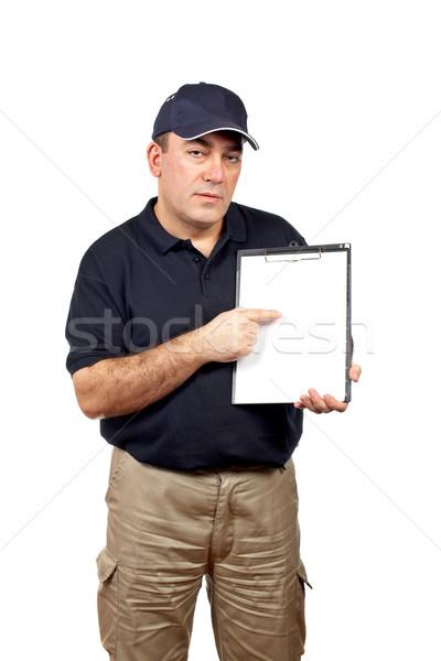 Corriere punta dito appunti carta Foto d'archivio © broker