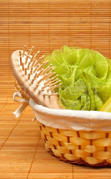 Bagno accessori prodotti di bellezza bambù salute bellezza Foto d'archivio © broker