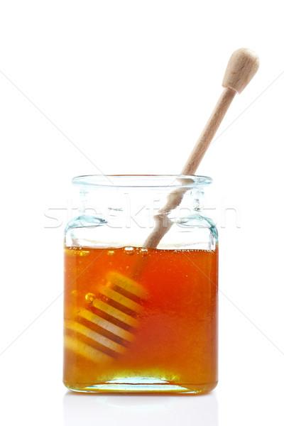 Drizzler inside of honey jar Stock photo © broker