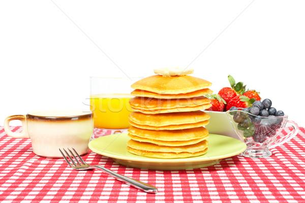 завтрак большой масло черника Сток-фото © broker