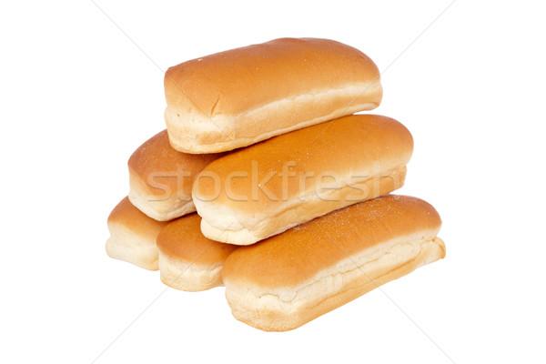 Stock fotó: Köteg · hot · dog · izolált · fehér · kutya · kövér