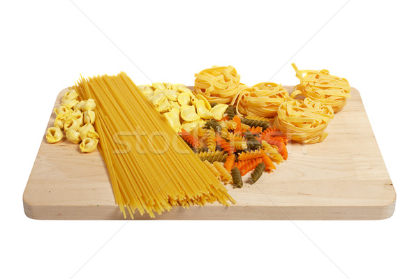 Set of uncooked pasta Stock photo © broker