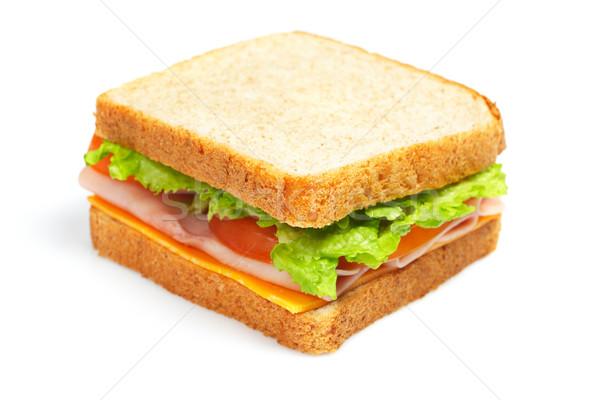 Saudável presunto sanduíche queijo tomates alface Foto stock © broker