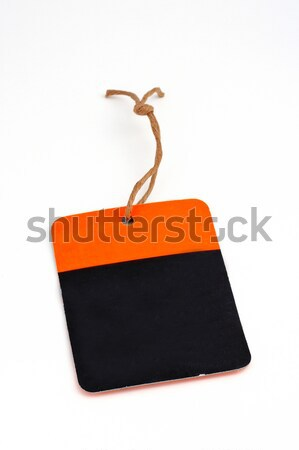 Fiyat etiket beyaz kâğıt hediye Stok fotoğraf © broker