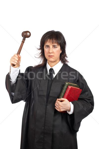 Angry female judge Stock photo © broker