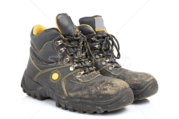 Pair of old work boots Stock photo © broker