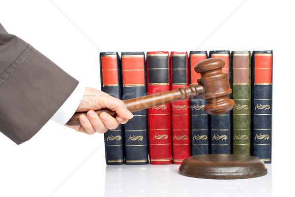 судья объявлять вердикт женщину белый мелкий Сток-фото © broker