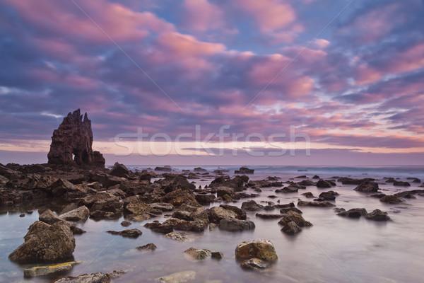 Sunrise at Playa de Portizuelo Stock photo © broker