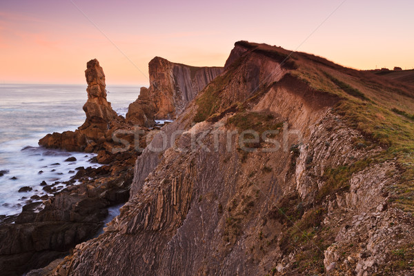 Amazing seascape sunrise Stock photo © broker