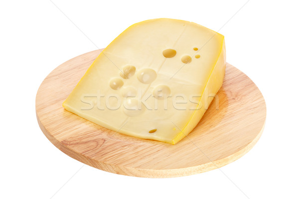 Cheese on wooden dish Stock photo © broker