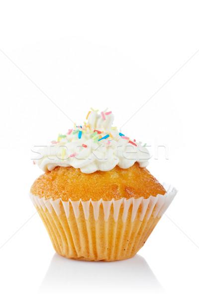 Tasty muffin with cream Stock photo © broker