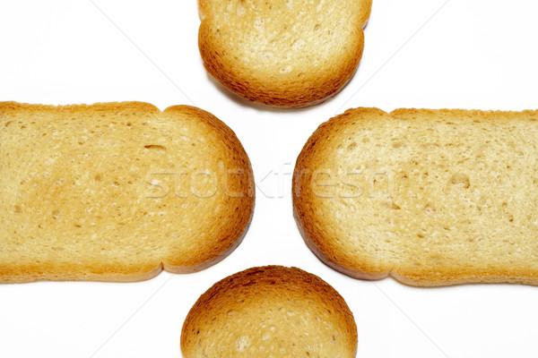 スライス 焼いた パン 朝食 白 穀物 ストックフォト © broker