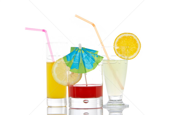 Glasses with beverages Stock photo © broker