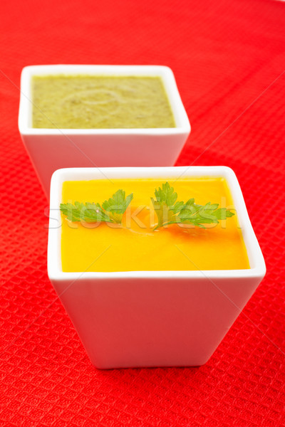 Carrots puree with parsley and spinach Stock photo © broker