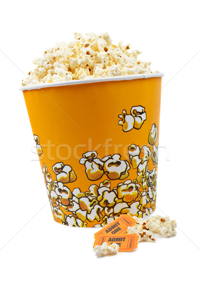 Popcorn and tickets Stock photo © broker