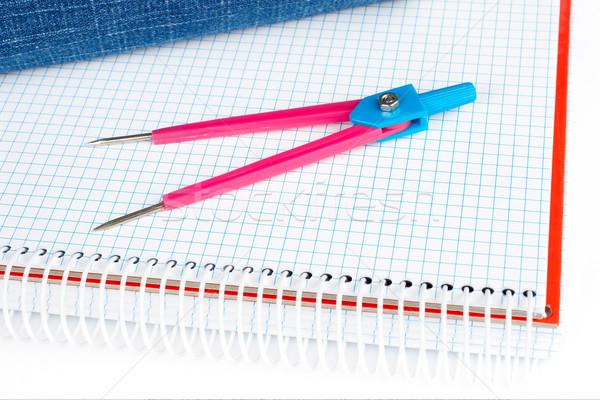 Compass over a notebook Stock photo © broker