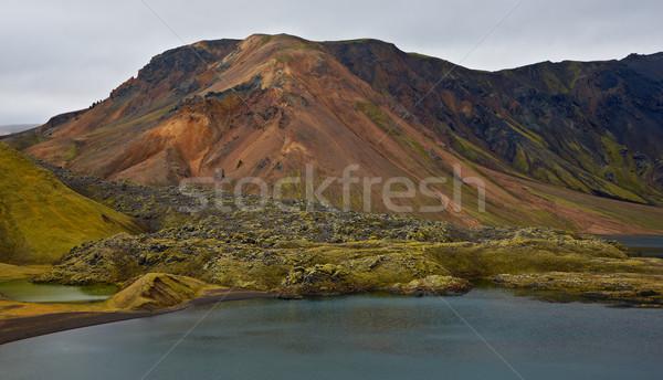 кратер озеро Исландия природы резерв пейзаж Сток-фото © broker