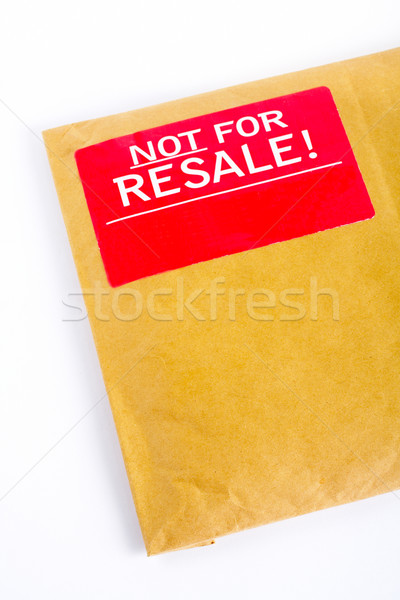 Detail of Envelope with red sticker: Not for resale Stock photo © broker