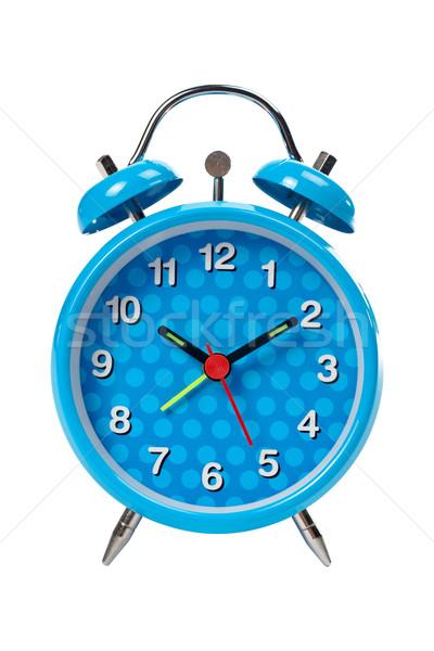 Azul despertador topo isolado branco tempo Foto stock © broker