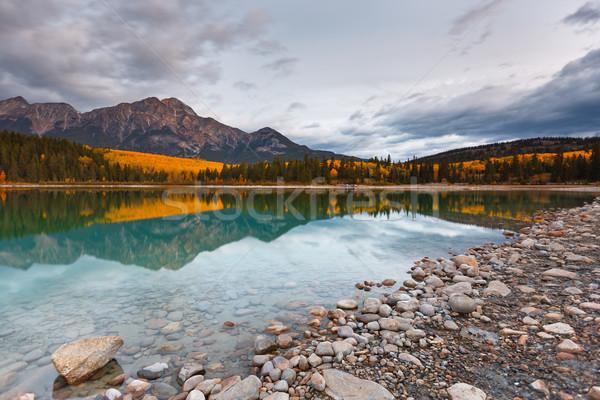 Patricia Lake and Pyramid Mountain Stock photo © broker