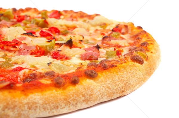 Saboroso italiano pizza isolado branco raso Foto stock © broker