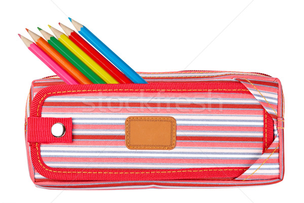 Red pencil case Stock photo © broker