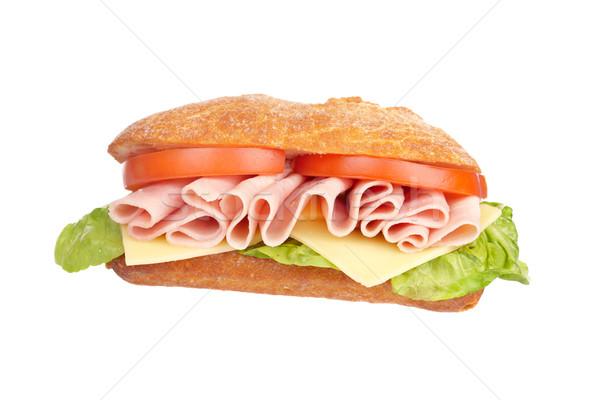 Foto stock: Delicioso · sándwich · lechuga · tomates · jamón · queso