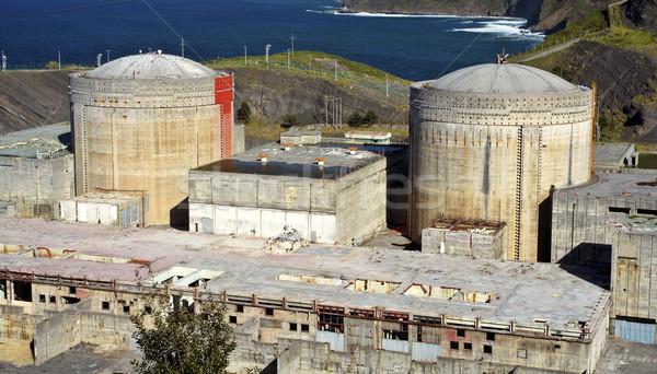 Abandonné nucléaire centrale électrique construction triste industrie Photo stock © broker