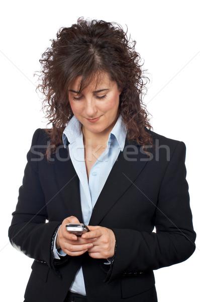 üzletasszony küld sms fehér nők telefon Stock fotó © broker