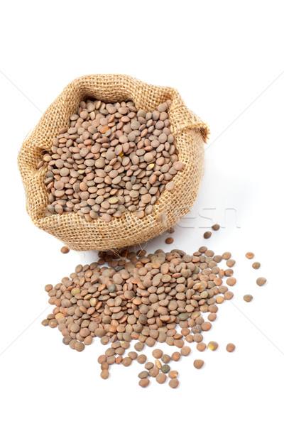 Burlap sack with lentils Stock photo © broker