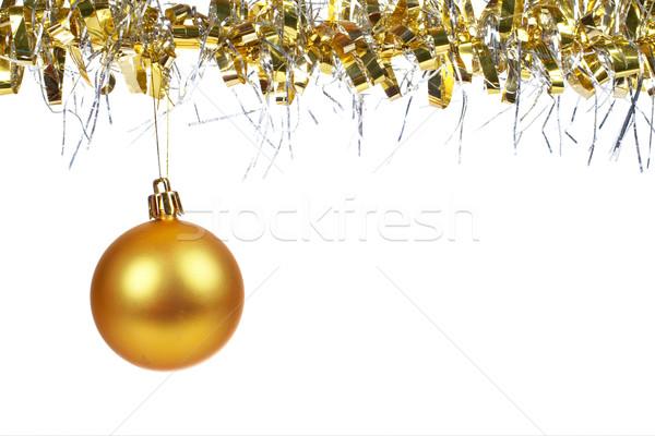 Golden Christmas ball dangling Stock photo © broker