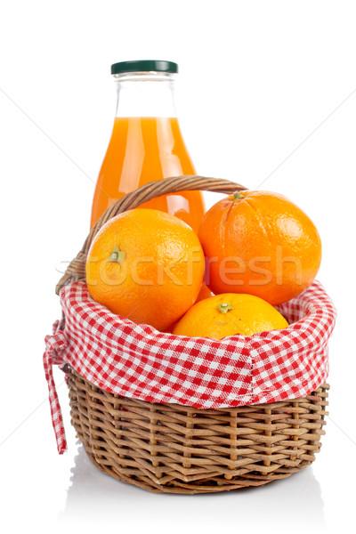 Oranges and fresh juice Stock photo © broker