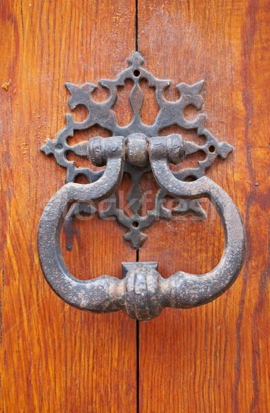 Old door knocker Stock photo © broker