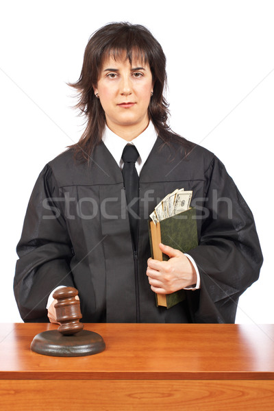 Justice accepting a bribe Stock photo © broker